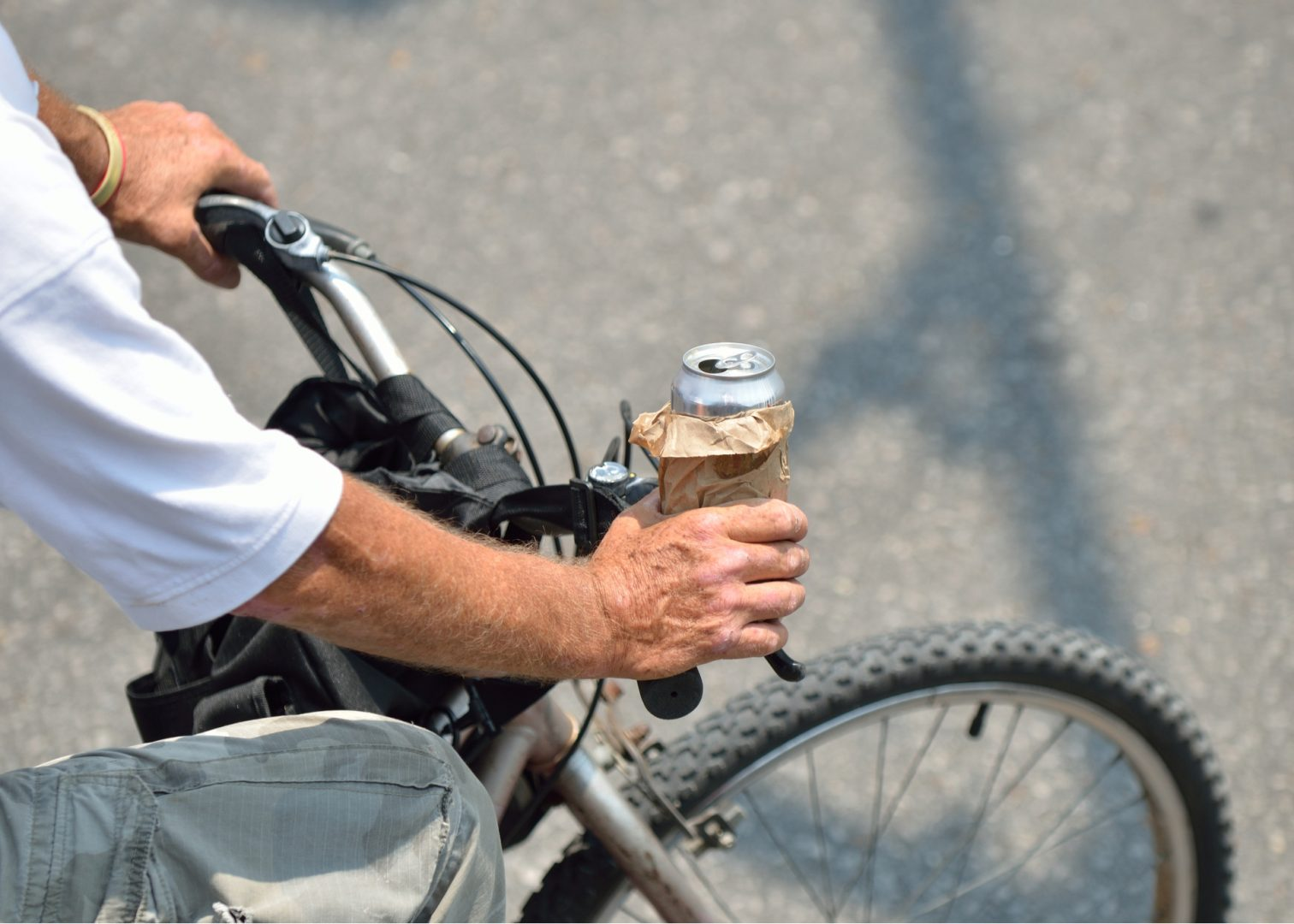 Man Drinking While Riding Bicycle In Dallas Texas Could Be Arrested
